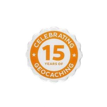Épinglette 15 ans de Geocaching
