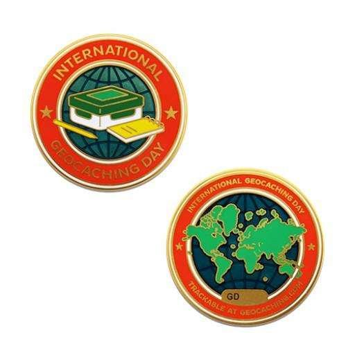Journée international du Geocaching Geopièce/International Geocaching Day Geocoin